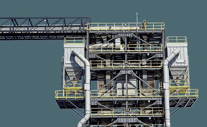 système de dépoussiérage industriel