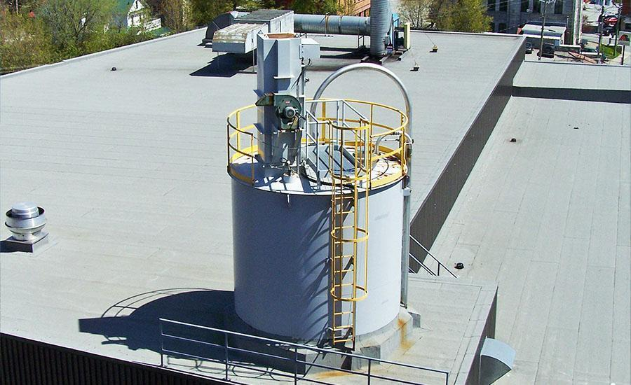 bin vent dust collector installed on roof