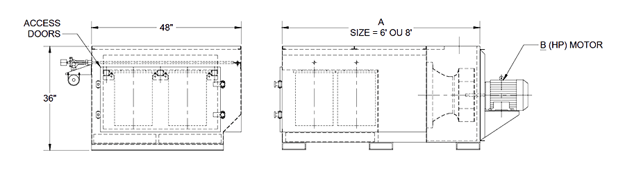 cartridge downdraft table specifications